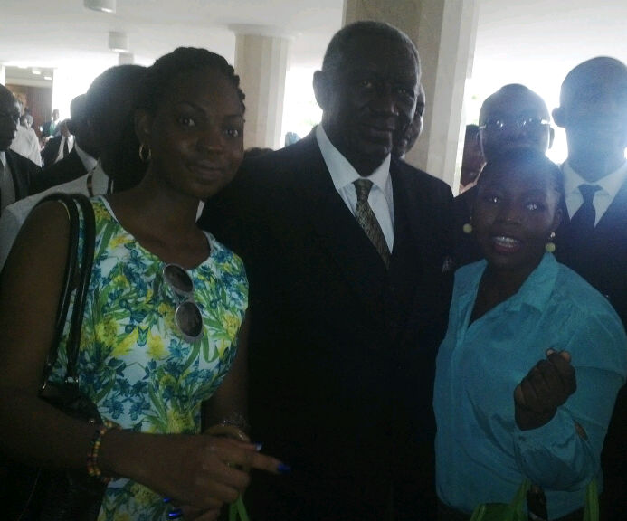 With John Kufuor,former President of Ghana..(nor mind d person,e nor snap am clear)