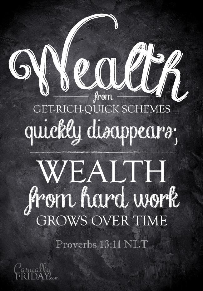 Proverbs 13:11